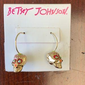 Betsey Johnson 💀Sugar💀 Skull 💀 Earrings